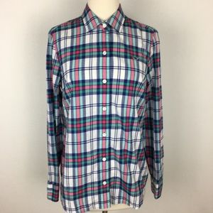 Vineyard Vines Plaid Buttondown  size 6